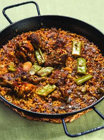 Paella de carn i verdures al blog de Cullera de Boix.