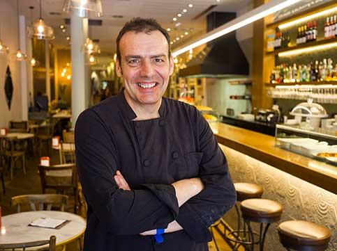 El xef de Cullera de Boix, Xavier Matarrodona, al restaurant Rambla, a Barcelona (Foto: Enrique Marco).
