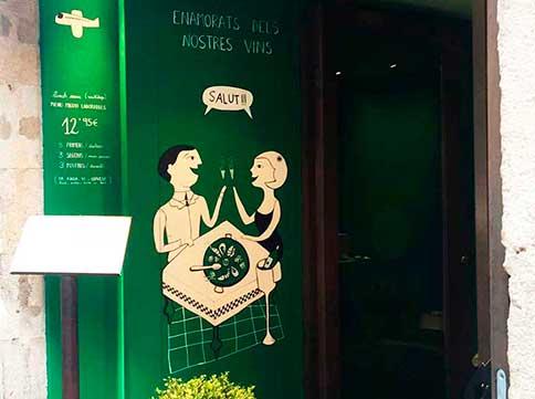 Entrada del restaurant Cullera de Boix - Boqueria ubicat al carrer Hospital nº 3 de Barcelona.