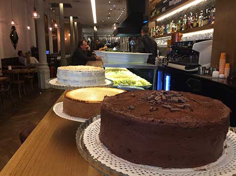 Pastís de xocolata restaurant arrossos Barcelona